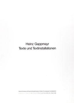 Poster (Gappmayr, Heinz Gappmayr - Texte und Textinstallationen) 1985