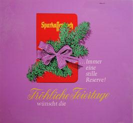 Poster (Traimer - Heinz Traimer: Sparkassenbuch - Immer eine stille Reserve - Fröhliche Festtage) Original Siebdruck von 1967.