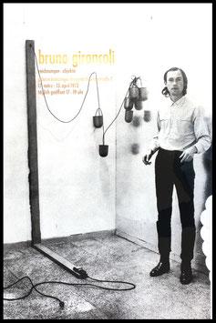 Poster (Gironcoli - Bruno Gironcoli - Zeichnungen - Objekte) 1972.