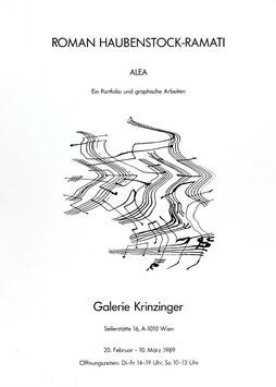 Roman Haubenstock Ramati  - Alea. Ein Portfolio und graphische Arbeiten, Poster 1989.