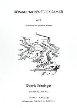 Poster (Haubenstock - Roman Haubenstock - Ramati  - Alea. Ein Portfolio und graphische Arbeiten) 1989.