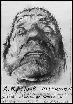 Poster (Rainer - Arnulf Rainer: Totenmasken) 1979.