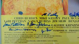 LAX - Chris Burden und Mike Kelley - signiert, Poster 1992.