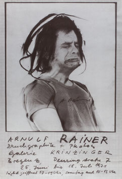 Poster (Rainer - Arnulf Rainer - Druckgraphik + Photos) 1971.