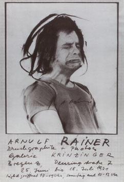 Arnulf Rainer - Druckgraphik + Photos, Poster 1971.