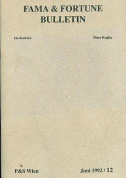 Kogler (Peter Kogler - Fama & Fortune Bulletin - Juni 1992 / 12) 1992.