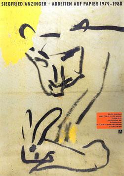 Siegfried Anzinger - Arbeiten auf Papier 1979-1988, Poster 1988.
