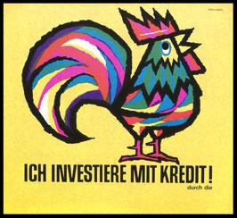Poster (Traimer - Heinz Traimer: Ich investiere mit Kredit!) Original Druck von