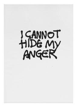 Monica Bonvicini - I cannot hide my anger (Edition / art print 2021).