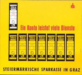 Poster (Traimer - Heinz Traimer:  Ein Konto leistet viele Dinge) Original Siebdruck von 1967.