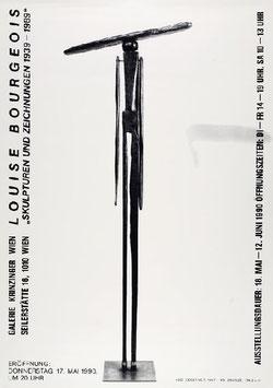 Louise Bourgeois - Skulpturen und Zeichnungen 1939-1989, Poster 1990.