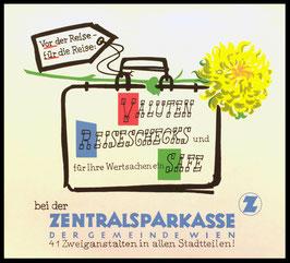 Poster (Traimer - Heinz Traimer: vor der Reise nach der Reise / Safe  ) Original Siebdruck um 1960.