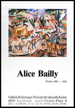 Poster (Bailly - Alice Bailly - Werke 1908-1923) 1985.