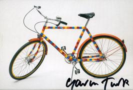 Turk (Gavin Turk - Les Bikes de Bois rond - Postcard-Set) 2010. Signiert!
