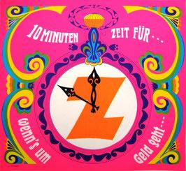 Poster (Traimer - Heinz Traimer: 10 Minuten Zeit für Z) um 1968.