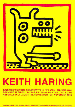 Poster (Haring - Keith Haring - Exhibition) 1995.