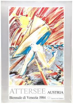 Christian Ludwig Attersee - Bienale di Venezia, Poster 1984.