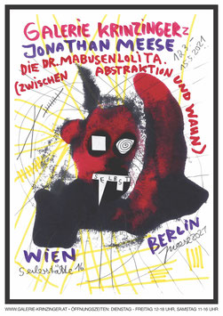 Jonathan Meese - Dr. Mabusenlolita (Plakat / art poster 2021) rot