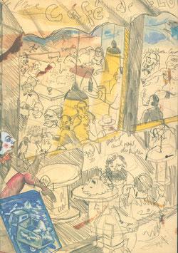 Immendorff (Jörg Immendorff - Café de Flor Teil 1 und 2) 1990.