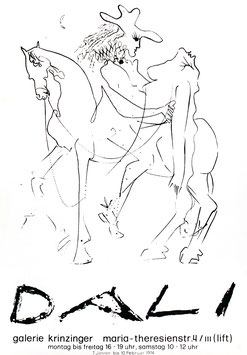 Poster (Dali - Salvador Dali, Amazone und Kavalier?) 1974.