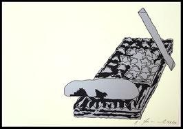 "Edition: Gironcoli (Bruno Gironcoli - aus der Mappe ""Aug um Aug"" ) 1986."