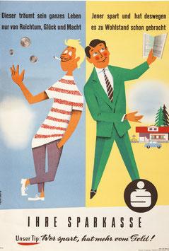 Poster (Traimer - Heinz Traimer: Dieser träumt ...) 1958 / Repro 2017