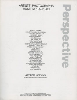 Artists Photographs Austria 1959-1980. Art New York 1980.