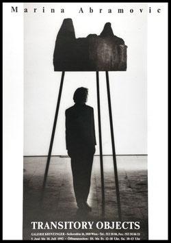 Marina Abramović - Transistory Objects, Poster 1992.