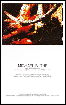 Poster (Buthe - Michael Buthe - Aus Selbstbildnissen) 1982.