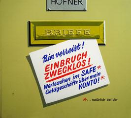 Poster (Traimer - Heinz Traimer: Bin verreist - Einbruch zwecklos) Original Siebdruck von 1967.