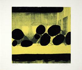 """Erwin Wurm - Das letzte Abendmahl """"Aug um Aug"""" (Edition / art print 1986)."""