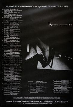 Poster (Div. Zur Definition eines neuen Kunstbegriffes) 1979.
