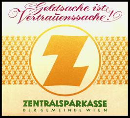 Poster (Traimer - Heinz Traimer: Geldsache ist Vertrauenssache) Original Siebdruck um 1961..