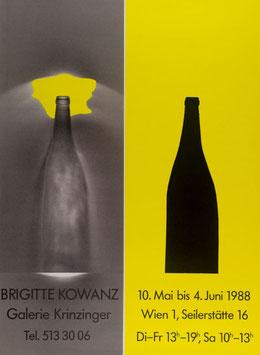Plakat / Poster: Brigitte Kowanz - Ausstellung in der Galerie Krinzinger  1988.