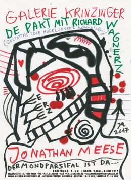 Poster (Meese - Jonathan Meese - De Pakt mit Richard Wagenerz) 2017.