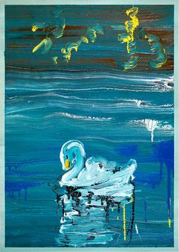 """Rui Ferreira - o.T. """"vulgo: Swan"""" (Kunstwerk / artwork 2020)."""