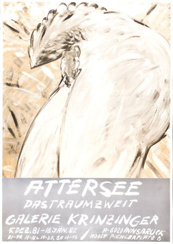 Poster (Attersee Christian Ludwig Attersee: Das Traumzweit) 1981.
