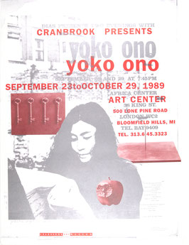 Poster (Ono - Yoko Ono - Art Center) 1989