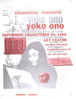 Yoko Ono - Art Center, Poster 1989.