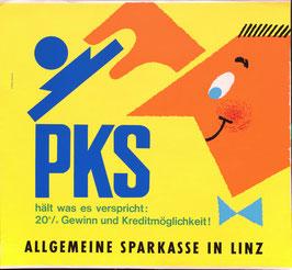 Poster (Traimer - Heinz Traimer: PKS  Prämienkontensparen hält was es verspricht - ) Original Druck um 1964.