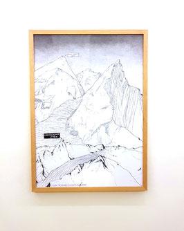 Artwork / Original: Werner Reiterer -  Die Gegenüberstellung / Großglocker & Mount Everest) 2016.