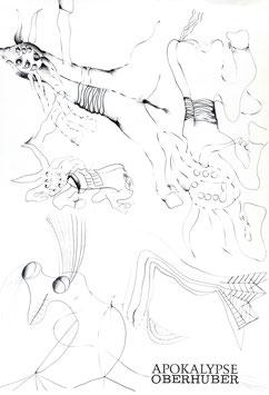 Oswald Oberhuber - Apokalypse, Poster 1975.