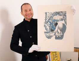 Edition / Art print: Pettibon (Raymond Pettibon - We are Drawn, vulgo Vavoom) 1992.