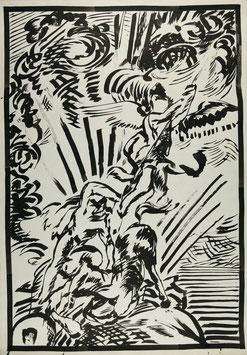 Elmar Trenkwalder - o.T. (Original Kunst / artwork 1983).