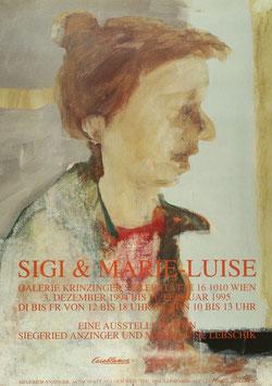 Siegfried Anzinger - Sigi & Marie Luise, Poster 1994.