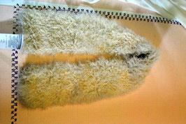 Mongolilamm / Tibetlamm Schal in Beige- 120 cm x 13 cm [0457]