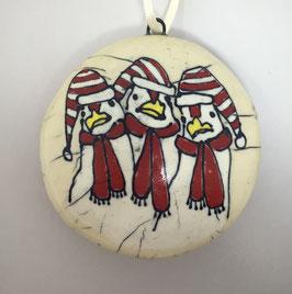 3 Hens Ornament