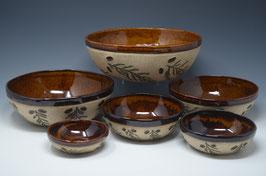 Nested Six Mixing Bowl Set