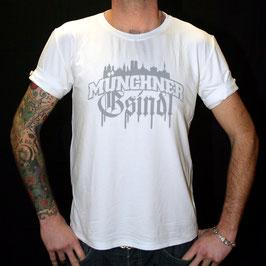 Knopfshirt - Skyline - Weiß/Grau