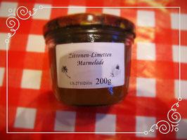 Zitrone-Limetten Fruchtaufstrich 200g Erfrischender Geschmack. -- F13